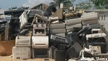 """ewaste: Togo upcyling: Thousands of tons of electronic waste arrives every year from Europe in West Africa and pollutes the environment. The Woelab team collects some of it and makes new technical devices from it """"up cycling. With their project they are trying to solve the problem."""