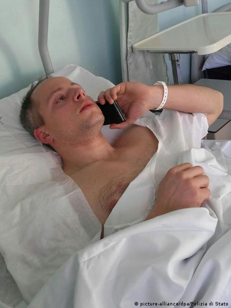 کریستیان موویو، مامور پلیسی که در درگیری مسلحانه با انیس عامری زخمی شد