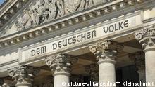 Deutschland | 100 Jahre Schriftzug Dem Deutschen Volke am Berliner Reichstag