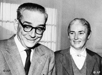 Андрич със съпругата си