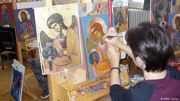 Ikonenwerkstatt in Bosnien