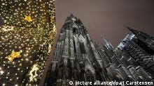 Weihnachten in Köln Dom Polizeischutz Polizei