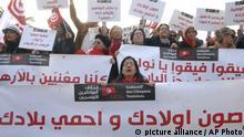 Tunesien - Demonstration gegen die Rückkehr von Dschihadisten
