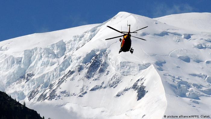 Symbolbild - Rettungshubschrauber Mont Blanc