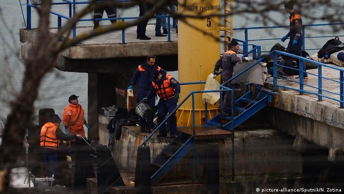 Участники спасательной операции на Черном море