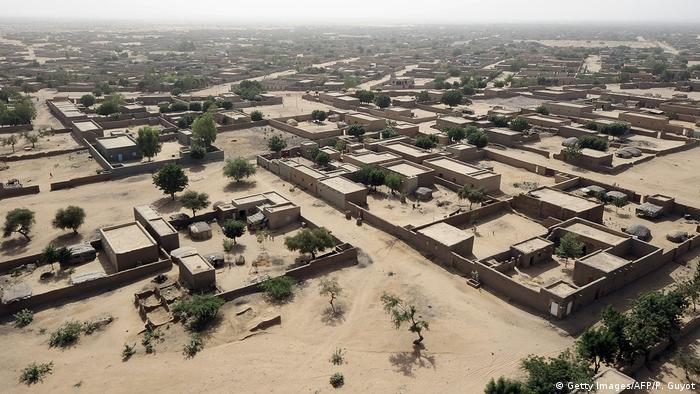 Aerial view of Gao in Northern Mali