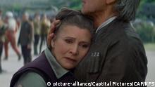 Filmstill - Star Wars das Erwachen der Macht mit Carrie Fisher
