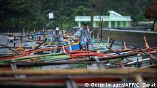 Philipinen - Vorbereitungen wegen Typhoon Nock-Ten