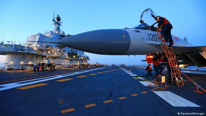 China Flugzeugträger Übung