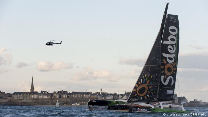 Thomas Coville's yacht the Sodebo Ultim' (picture alliance/DPPI Media)
