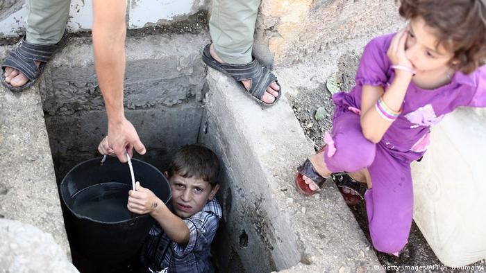 Syrien Damaskus Trinkwasser (Getty Images/AFP/A. Doumany)