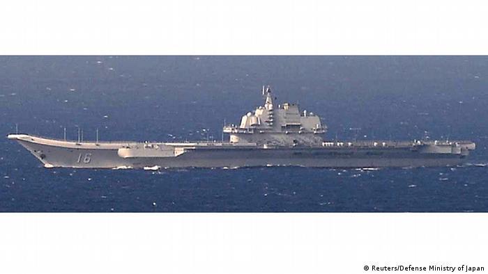 Chinesischer Flugzeugträger (Reuters/Defense Ministry of Japan)