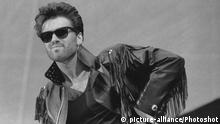 GEORGE MICHAEL PERFORMS AT WHAM-THE FINAL. JUNE 1986. / |