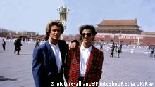 George Michael und Andrew Ridgeley in China