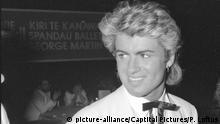 GEORGE MICHAEL c. 1985 R29/285 CAP/PL ©Phil Loftus/Capital Pictures | Keine Weitergabe an Wiederverkäufer.