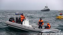 SOCHI, RUSSIA - DECEMBER 25, 2016: A search and rescue operation at the crash site of a Russian Defense Ministry plane. A Tupolev Tu-154 plane of the Russian Defense Ministry with 92 people on board crashed into the Black Sea near the city of Sochi on December 25, 2016. The plane was carrying members of the Alexandrov Ensemble, Russian servicemen and journalists to Russia's Hmeymim air base in Syria. Fragments of the plane were found about 1.5km from Sochi coastline. Russian Emergency Situations Ministry/TASS |