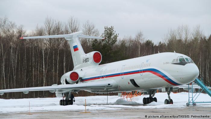 Ту-154 на стоянке в аэропорту Чкаловский