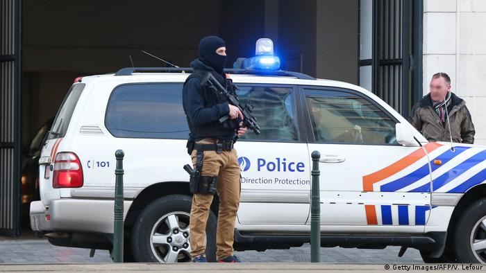 Belgien Brüssel Polizei (Getty Images/AFP/V. Lefour)