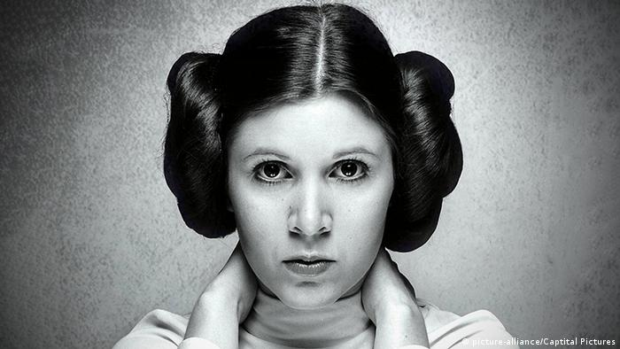 Carrie Fisher asl Prinzessin Leia Organa (picture-alliance/Captital Pictures)