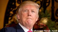 """21.12.2016 President-elect Donald Trump takes a question from a member of the media at Mar-a-Lago, in Palm Beach, Fla., Wednesday, Dec. 21, 2016. Trump on Thursday abruptly called for the United States to """"greatly strengthen and expand its nuclear capability"""" until the rest of the world """"comes to its senses"""" regarding nuclear weapons. Trump made the statement on Twitter and did not expand on either the actions he wants the U.S. to take or the issues he sees around the world. (AP Photo/Andrew Harnik)"""