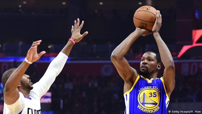 USA Kevin Durant Golden State Warriors v Los Angeles Clippers (Getty Images/H. How)