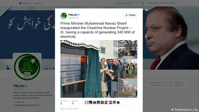 Screenshot Twitter Pakistan Muslim League Nawaz (Twitter/pmln_org )