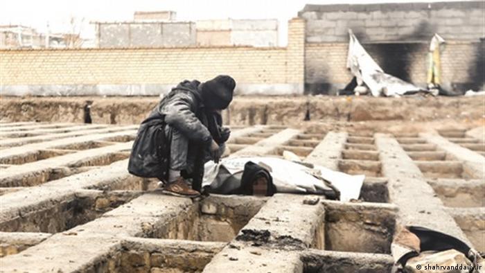 Iran - Obdachlose übernachten in Gräbern (shahrvanddaily.ir)
