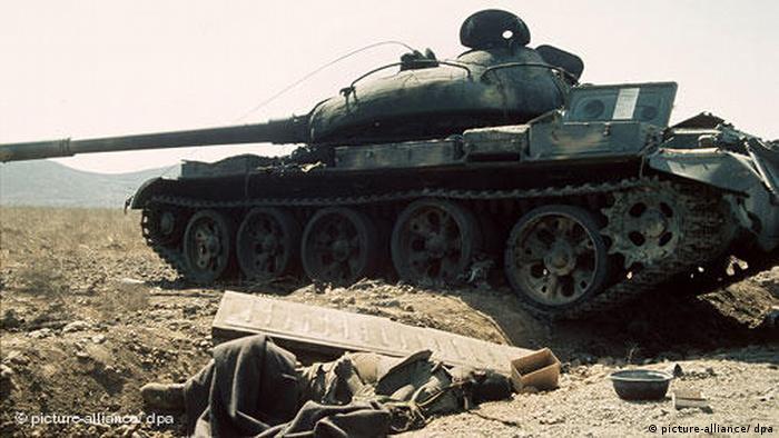 Israel Syrien israelische Panzer an Golan Höhen Jom Kippur Krieg
