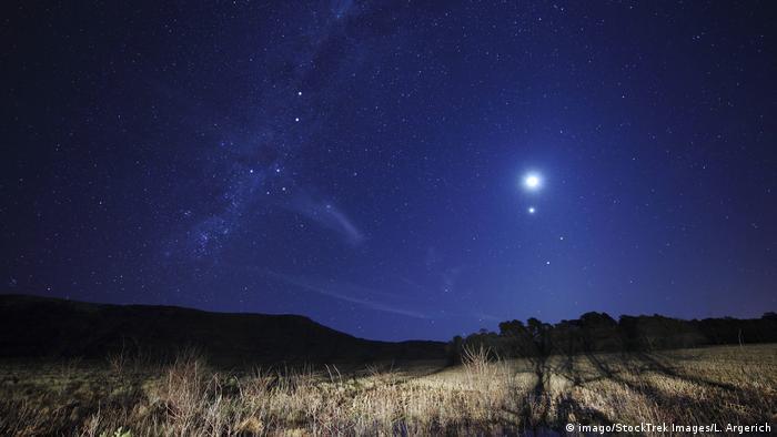 Луна, Венера, Марс и Спика