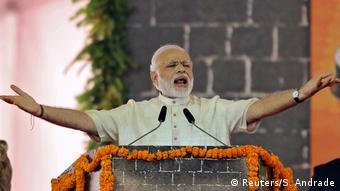 Indien Narendra Modi in Mumbai