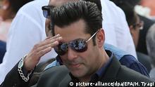 Indien Bollywood Schauspieler Salman Khan in Neu-Delhi