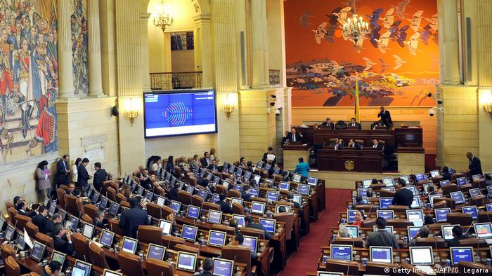 Kolumbien Parlament in Bogota (Getty Images/AFP/G. Legaria)
