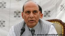 Indien Rajnath Singh in Srinagar