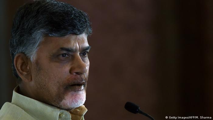 Indien Chandrababu Naidu in Neu-Delhi (Getty Images/AFP/M. Sharma)
