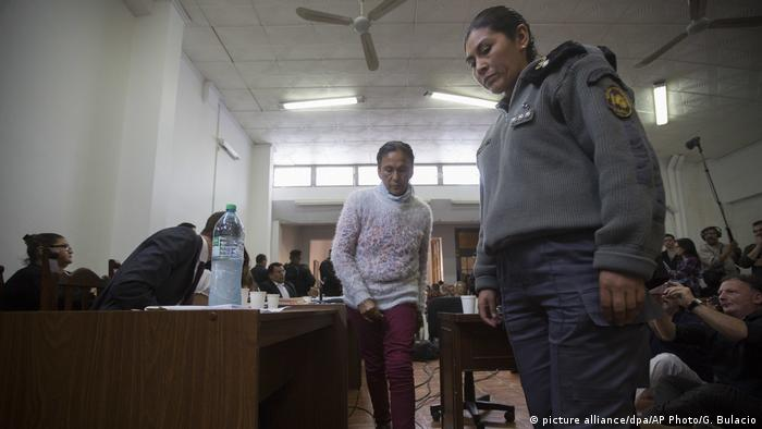 Argentinien Sozialaktivistin Milagro Sala vor Gericht (picture alliance/dpa/AP Photo/G. Bulacio)