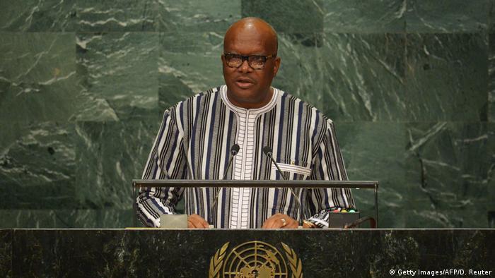USA UN Burkina Fasos Präsident Roch Marc Christian Kabore beim UN-Generalsrat
