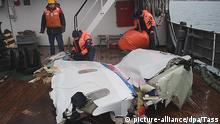 SOCHI, RUSSIA - DECEMBER 29, 2016: Pictured in this screen grab is wreckage of the Tupolev Tu-154 plane, retrieved from the Black Sea off Sochi coastline where it crashed on December 25, 2016. The plane of Russia's Defence Ministry bound for Russia's Hmeymim air base in Syria with 92 passengers onboard, was carrying members of the Alexandrov Ensemble, Russian servicemen and journalists, and Yelizaveta Glinka (known as Doctor Liza), Spravedlivaya Pomoshch [Just Aid] International Public Organisation director. Press Office of the Russian Emergency Situations Ministry/TASS |