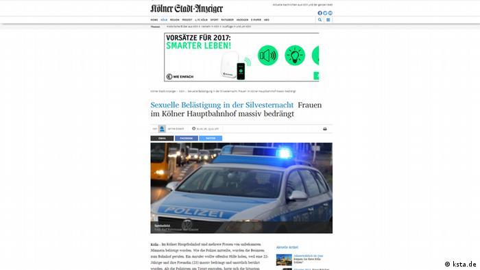 Screenshot Ksta Silvesternacht