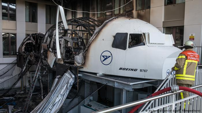 Flight simulator catches fire at Frankfurt airport | News