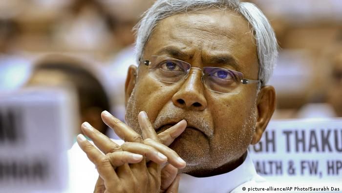 Indien Nitish Kumar Chief Minister von Bihar (picture-alliance/AP Photo/Saurabh Das)