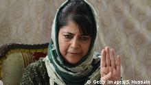 Indien Mehbooba Mufti Chief Ministerin von Jammu und Kaschmir