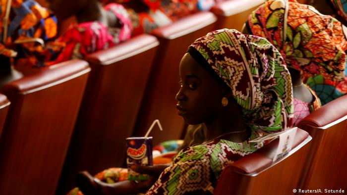 Chibok girls after their release from Boko Haram