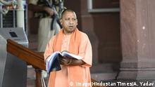 Indien Neu Delhi BJP Politiker und Priester Yogi Adityanath