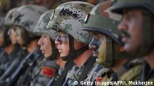 Indien allgemeine Bilder der indischen Armee mit chinesischen Soldaten