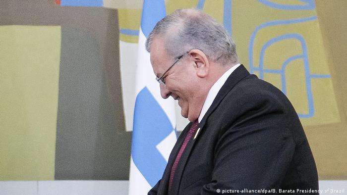 (Ausschnitt) Brasilien Rio de Janeiro Präsident Michel Temer (L) und Botschafter Griechenland Kyriakos Amiridis (R)