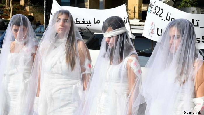 Demonstration gegen Artikel 522 Strafgesetz in Libanon