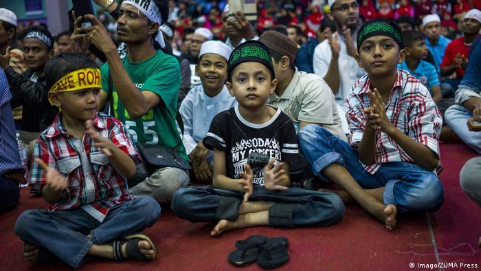 Malaysia Kuala Lumpur - Proteste gegen die verfolgung von Muslimen in Myanmar (Imago/ZUMA Press)