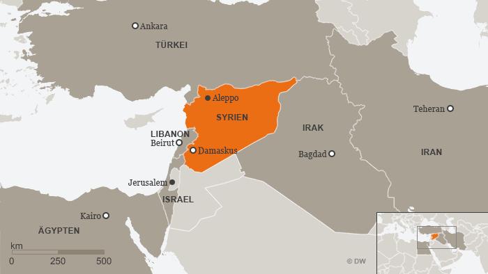 Syrien Irak Karte.Syrien Meldet Angriff Israels Auf Aleppo Aktuell Nahost Dw