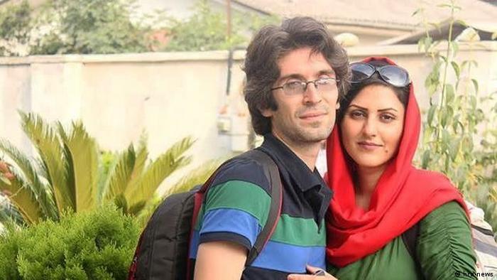 آرش صادقی و همسرش گلرخ ایرایی