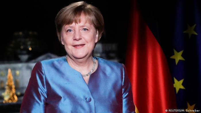 Deustchland | Neujahrsansprache BK Merkel im Bundeskanzleramt (REUTERS/M. Schreiber)